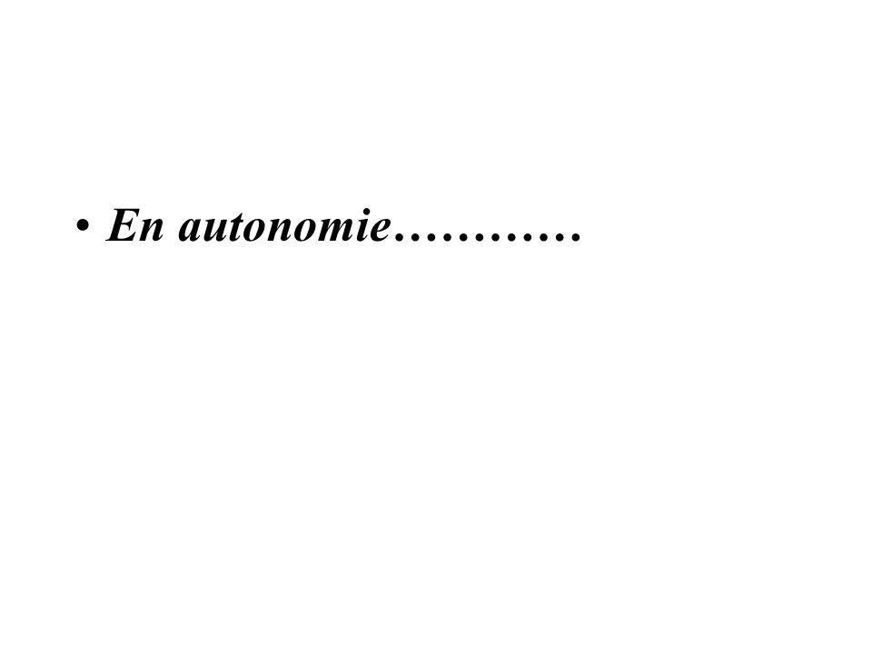 En autonomie…………