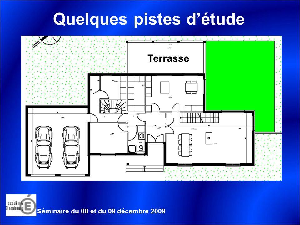Quelques pistes détude Terrasse Séminaire du 08 et du 09 décembre 2009