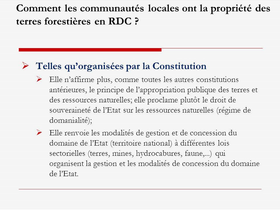Comment les communautés locales ont la propriété des terres forestières en RDC .