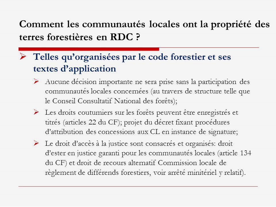 II.Comment les communautés utilisent les forêts et participent à leur gestion .