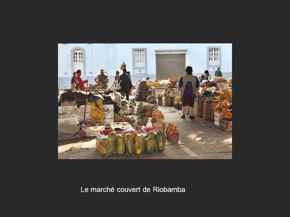 Le marché couvert de Riobamba