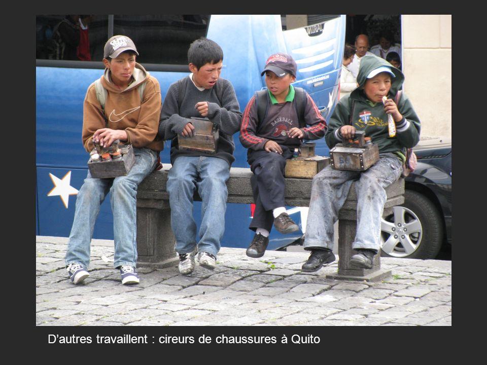 Dautres travaillent : cireurs de chaussures à Quito
