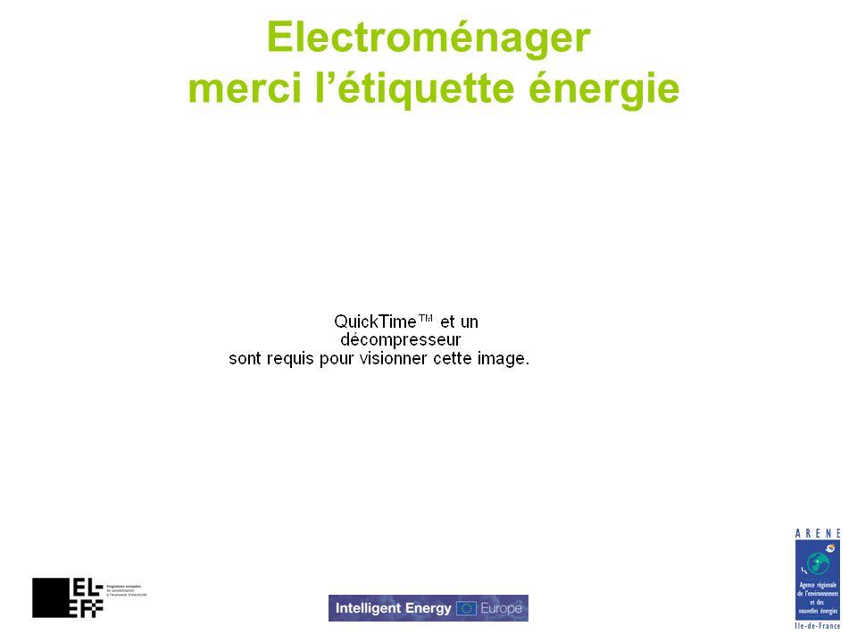 Electroménager merci létiquette énergie