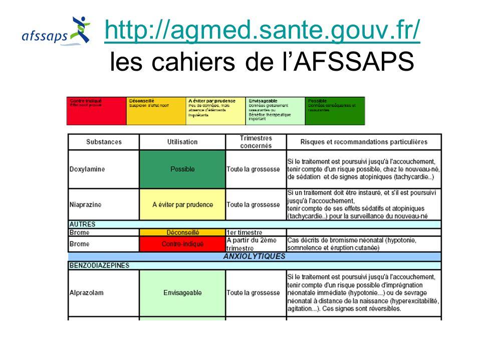 http://agmed.sante.gouv.fr/ http://agmed.sante.gouv.fr/ les cahiers de lAFSSAPS