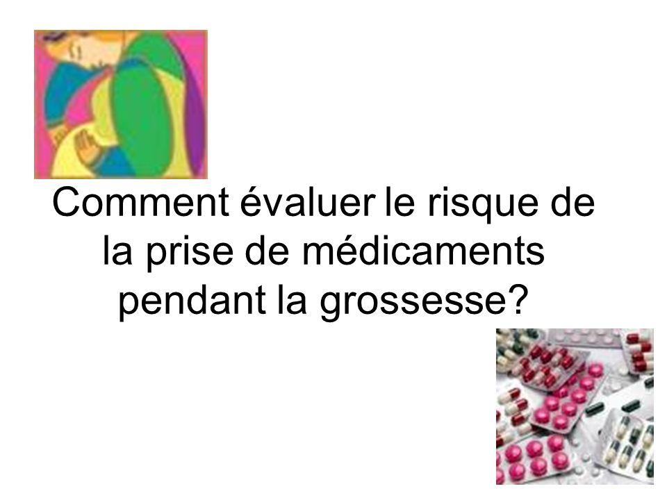 Comment évaluer le risque de la prise de médicaments pendant la grossesse?