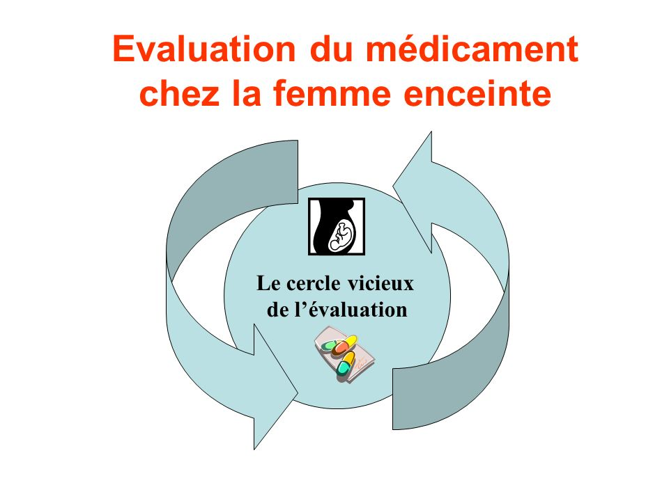 Evaluation du médicament chez la femme enceinte Le cercle vicieux de lévaluation