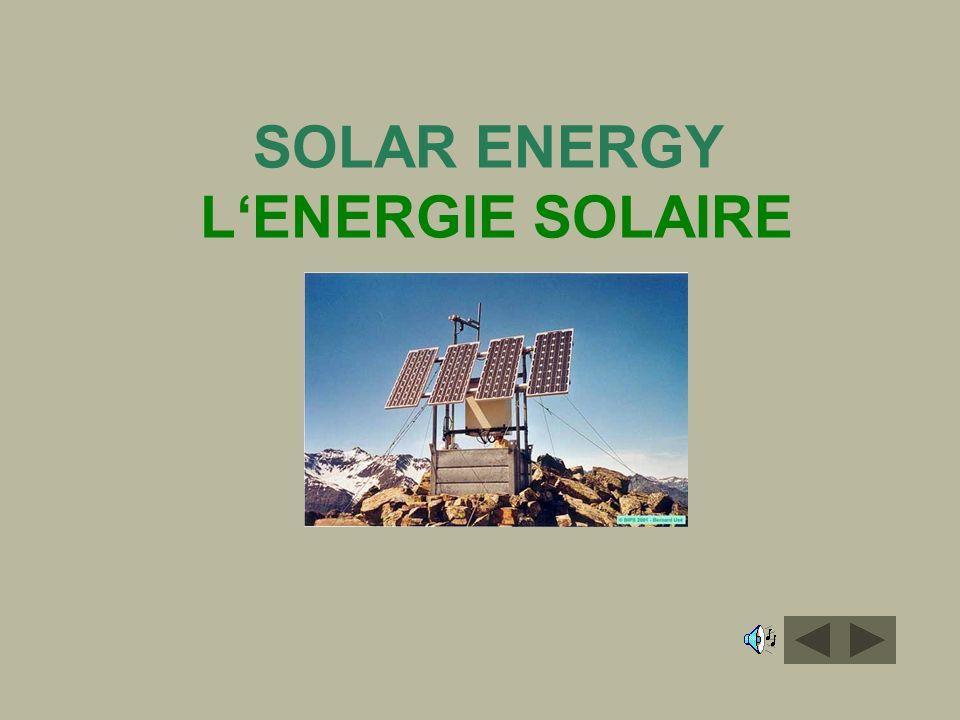 SOLAR ENERGY LENERGIE SOLAIRE
