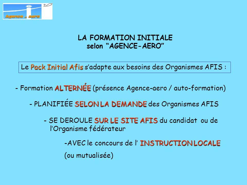 AFIS LA FORMATION des Agents AFIS avec « Agence-aero » Le « Pack Initial AFIS »