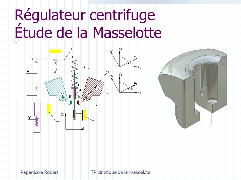 Papanicola RobertTP cinetique de la masselote Régulateur centrifuge Étude de la Masselotte