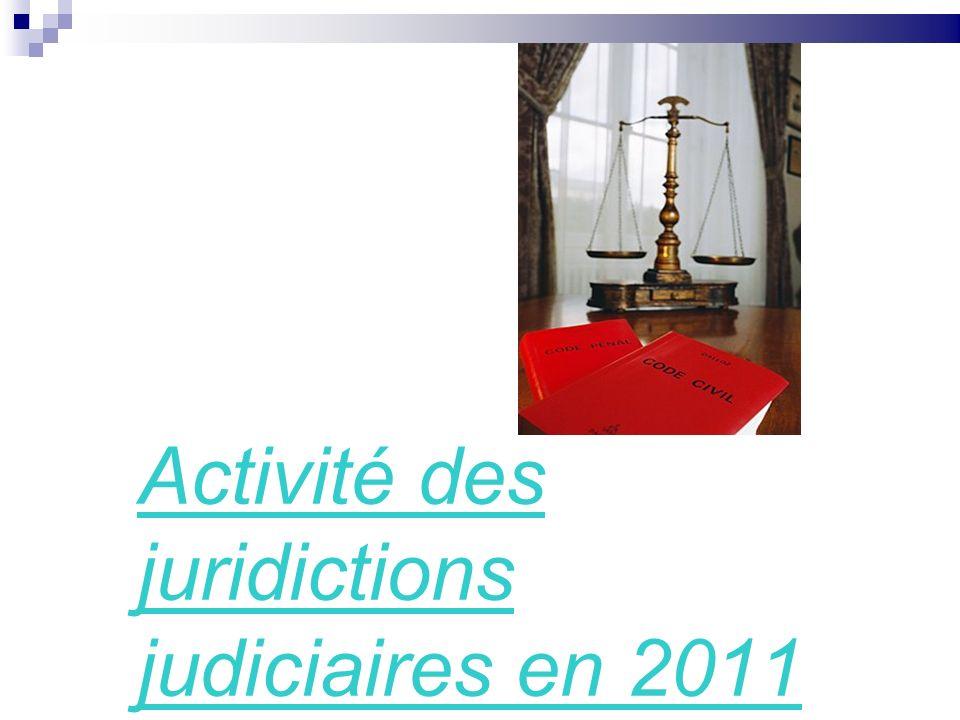 Activité des juridictions judiciaires en 2011