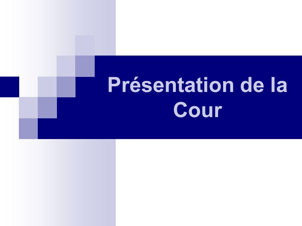 Présentation de la Cour