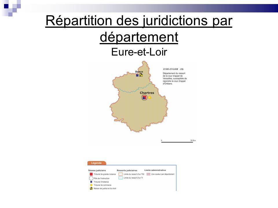 Répartition des juridictions par département Eure-et-Loir