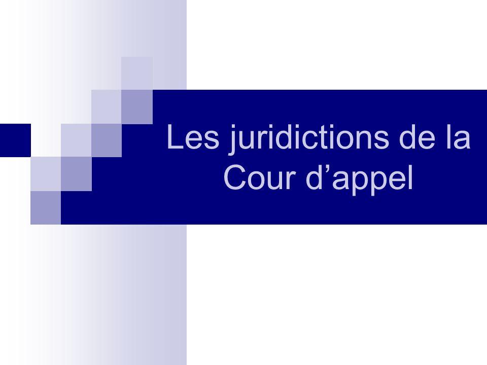 Les juridictions de la Cour dappel