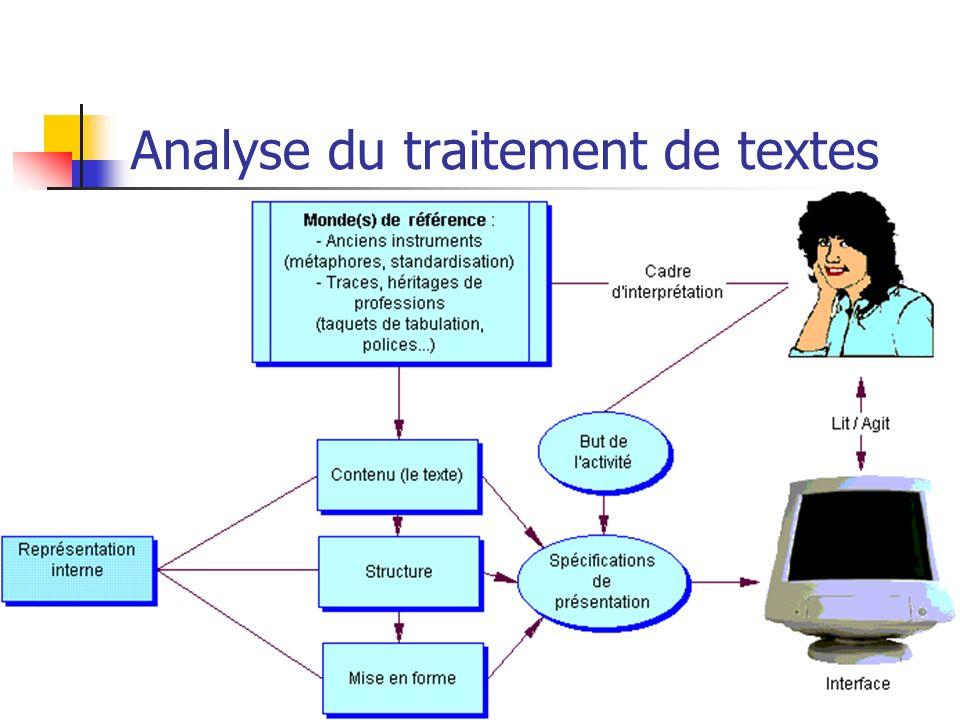 Analyse du traitement de textes