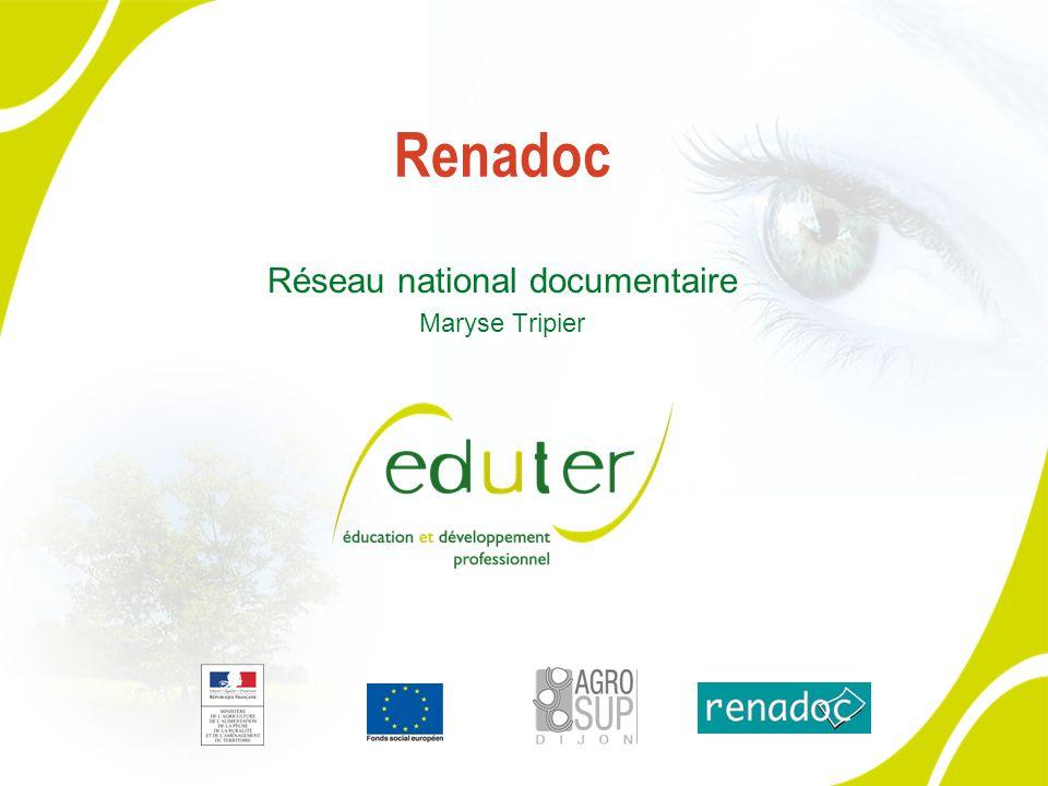 Renadoc Réseau national documentaire Maryse Tripier