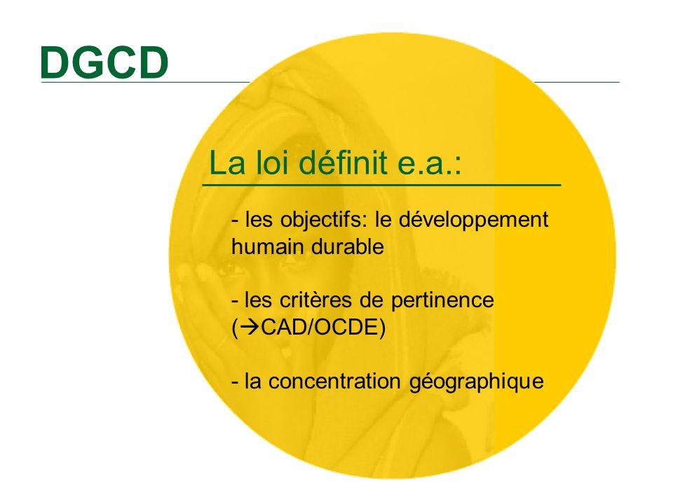 Les 25 pays et la région partenaires DGCD