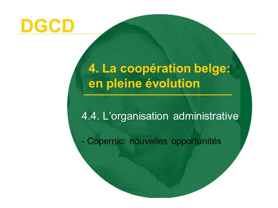 DGCD 4.5.La cohérence - les différents domaines au niveau belge - le niveau Européen 4.