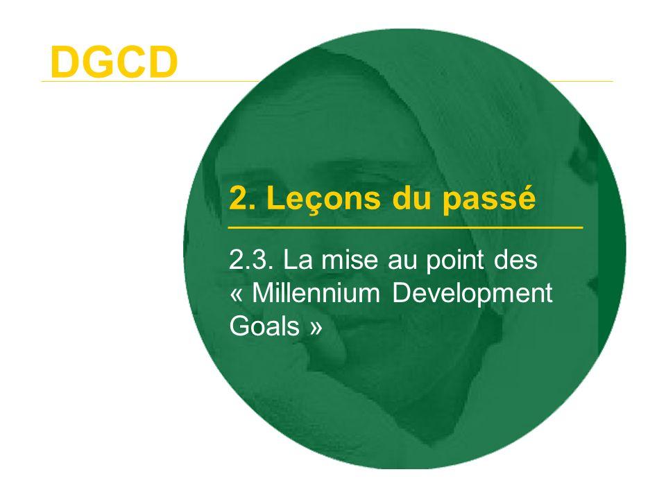 DGCD 2.4. De la substitution au renforcement des capacités locales 2. Leçons du passé