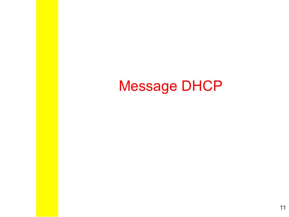 11 Message DHCP