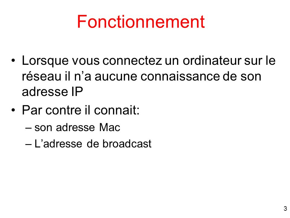 24 Trame contenant un DHCPDiscover Message DHCPDiscover 68 67 0.0.0.0 255.255.255.255 00:20.8f:b9:49:37 ff:ff:ff:ff:ff:ff UDP IP Ethernet