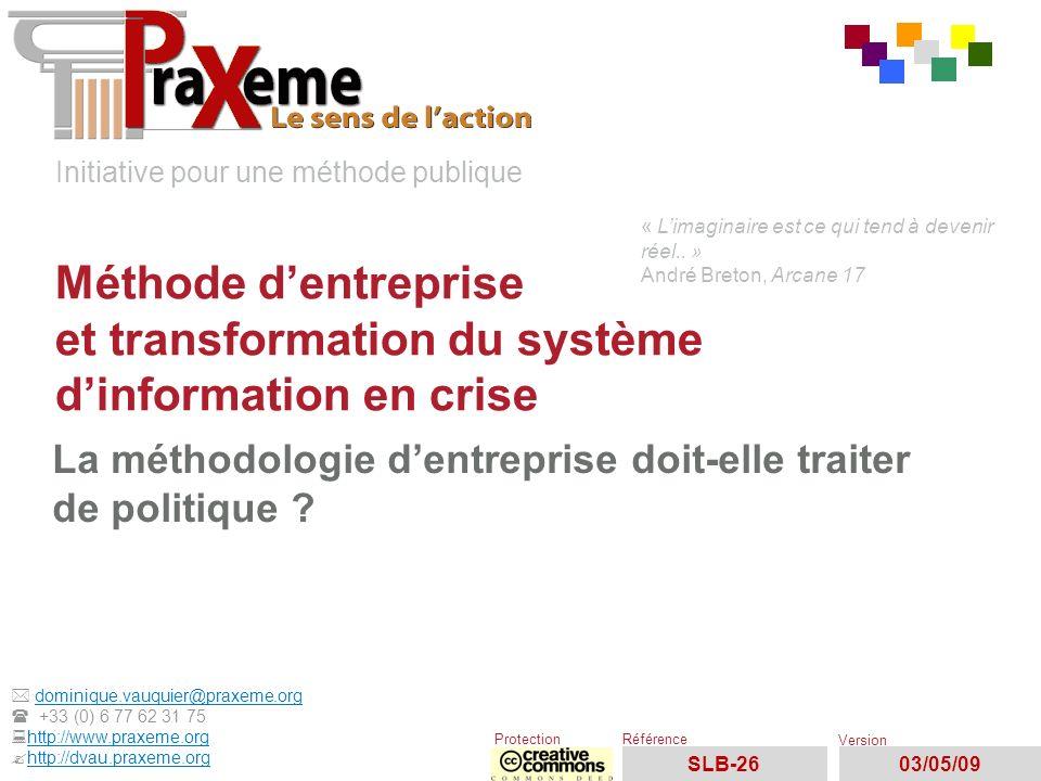 Initiative pour une méthode publique dominique.vauquier@praxeme.org +33 (0) 6 77 62 31 75 http://www.praxeme.org ?http://dvau.praxeme.orghttp://dvau.p