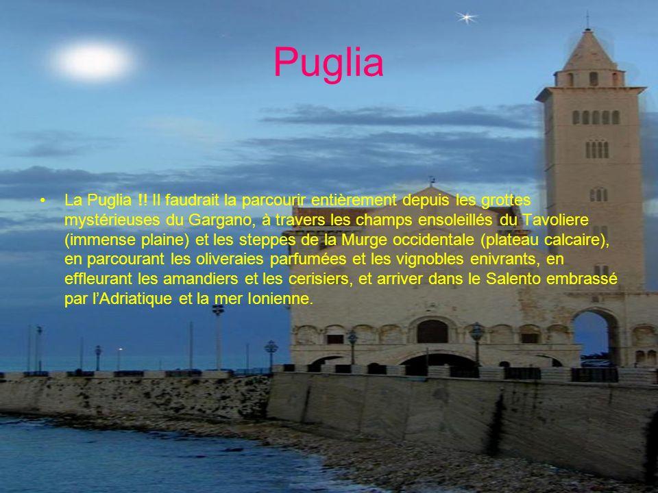 Puglia La Puglia !! Il faudrait la parcourir entièrement depuis les grottes mystérieuses du Gargano, à travers les champs ensoleillés du Tavoliere (im