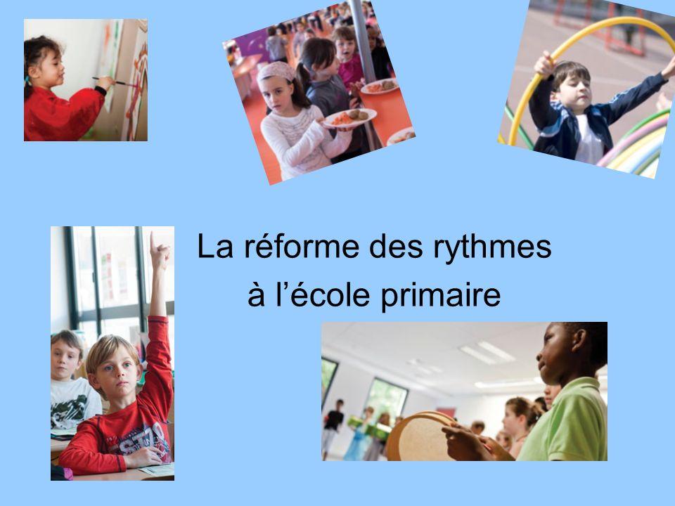 La réforme des rythmes à lécole primaire