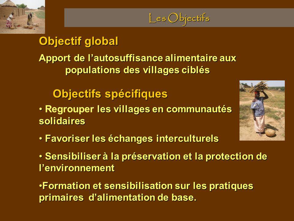 Les Objectifs Objectif global les villages en communautés solidaires Regrouper les villages en communautés solidaires Favoriser les échanges intercult