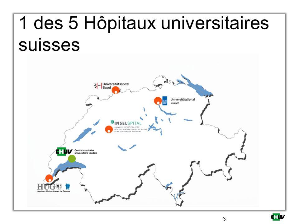 1 des 5 Hôpitaux universitaires suisses 3