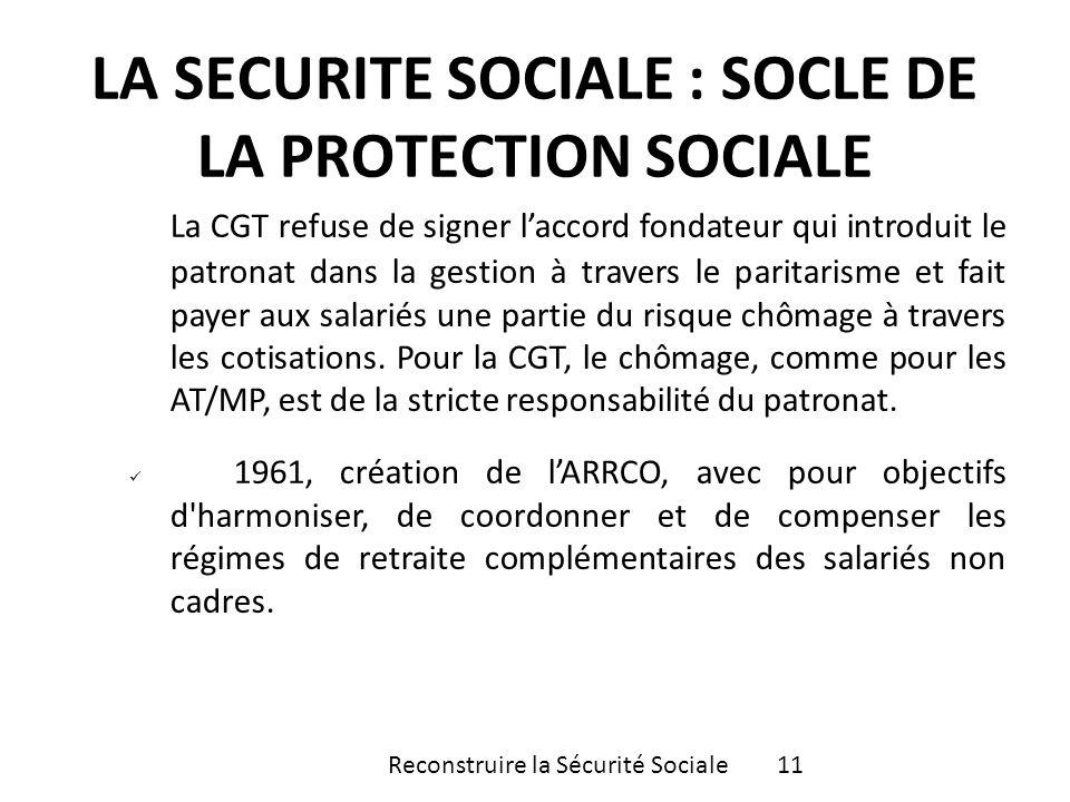 La CGT refuse de signer laccord fondateur qui introduit le patronat dans la gestion à travers le paritarisme et fait payer aux salariés une partie du