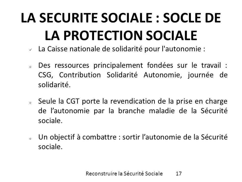 La Caisse nationale de solidarité pour l'autonomie : o Des ressources principalement fondées sur le travail : CSG, Contribution Solidarité Autonomie,