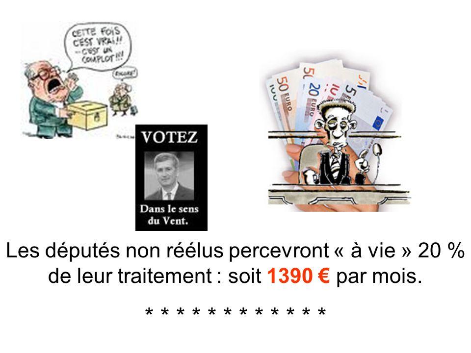 Et, avant son départ et lélection de Nicolas Sarkosy, il a fait voter une loi sur le régime spécial des retraites des députés ! * * * * * * * * * * *
