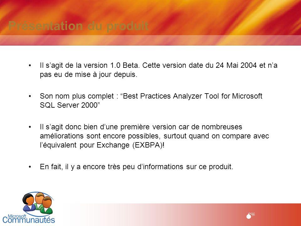 3 Titre2 Titre2 Titre2 Titre2 Titre2 Titre2 Titre2 M Les besoins - Cette version est fortement basée sur SQL 2000 (ou MSDE) qui est indispensable à son installation.( En effet, un produit dédié à SQL se doit dutiliser SQL, nest ce pas ?) A lusage, seules les bases SQL 2000 sont analysées.