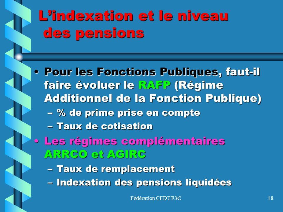 Fédération CFDT F3C18 Pour les Fonctions Publiques, faut-il faire évoluer le RAFP (Régime Additionnel de la Fonction Publique)Pour les Fonctions Publi