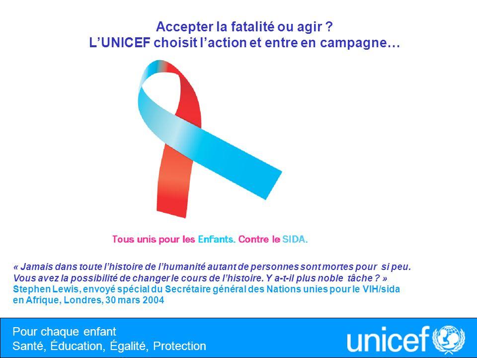 Priorité 1 Prévenir les nouvelles infections chez les jeunes, qui représentent la moitié des nouvelles infections : programmes de prévention et de sensibilisation, programmes de dépistages volontaires et gratuits.