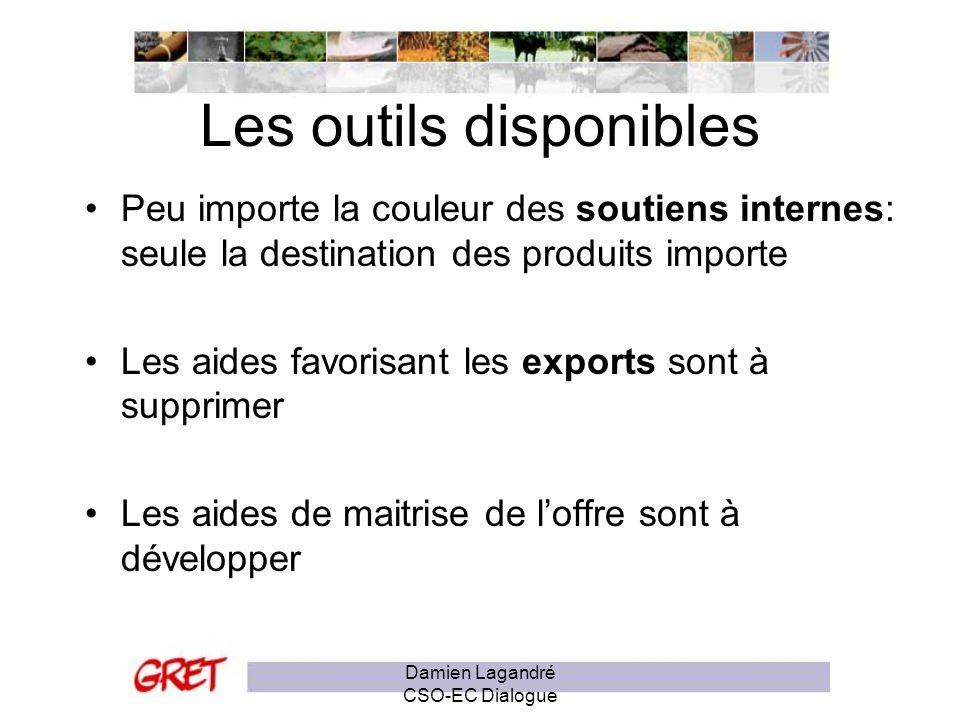 Les subventions aux exportations Engagement de Hong Kong (2005) La réintroduction des restitutions aux exportations laitières –Vers quels pays est exporté le lait bénéficiant de restitution .