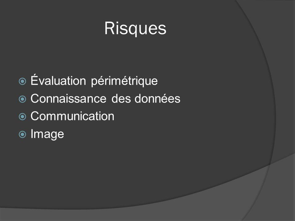 Risques Évaluation périmétrique Connaissance des données Communication Image