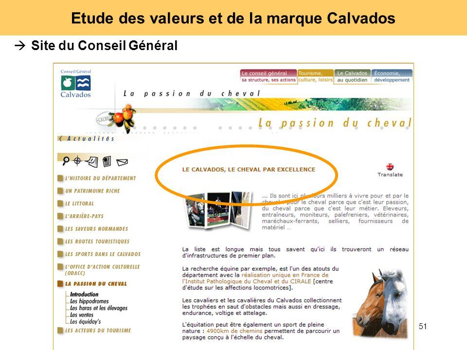 51 Etude des valeurs et de la marque Calvados Site du Conseil Général