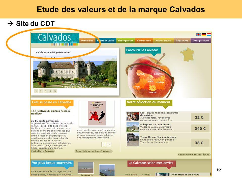53 Etude des valeurs et de la marque Calvados Site du CDT