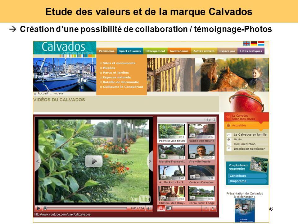 56 Etude des valeurs et de la marque Calvados Création dune possibilité de collaboration / témoignage-Photos