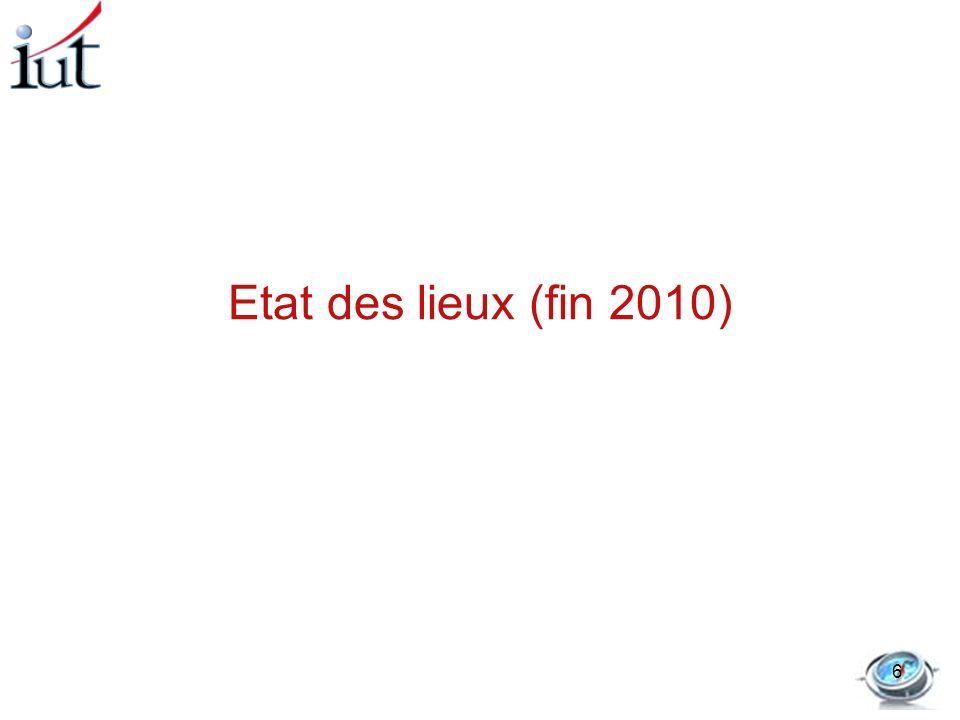 Etat des lieux (fin 2010) 6