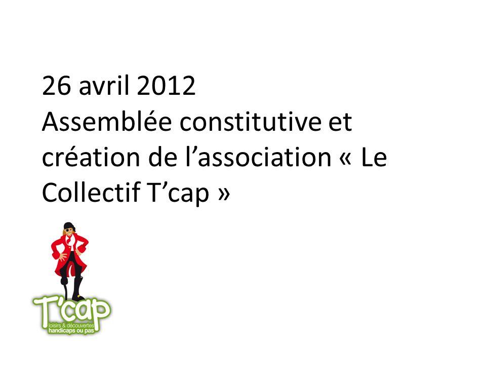 26 avril 2012 Assemblée constitutive et création de lassociation « Le Collectif Tcap »
