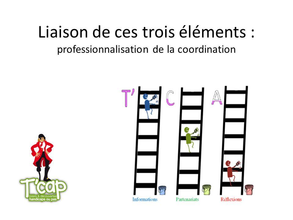 Liaison de ces trois éléments : professionnalisation de la coordination