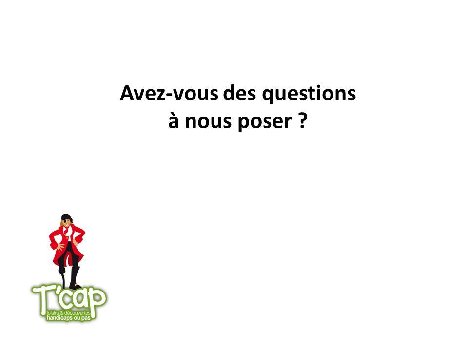 Avez-vous des questions à nous poser ?