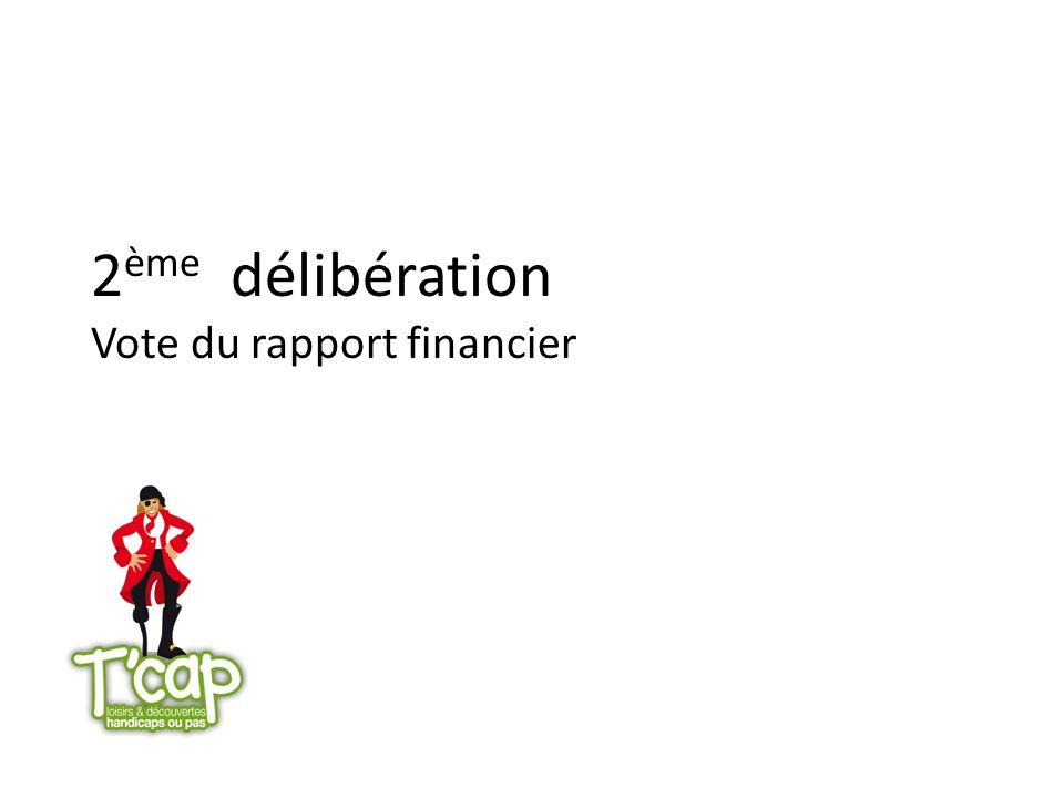 2 ème délibération Vote du rapport financier