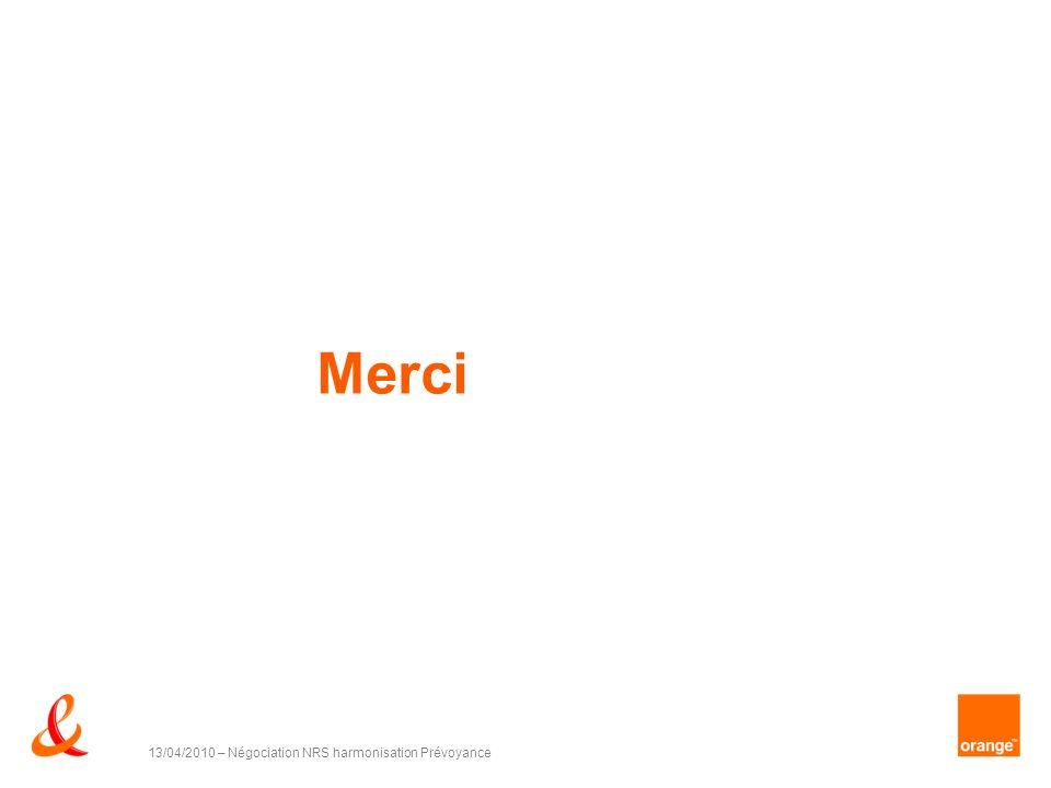Merci 13/04/2010 – Négociation NRS harmonisation Prévoyance