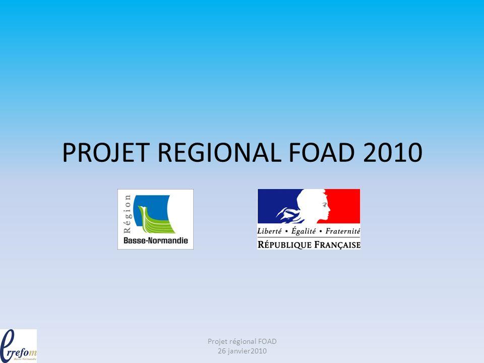 Bref historique Retour sur le Forum Permanent des Pratiques Février à décembre 2009 Projet régional FOAD 26 janvier2010