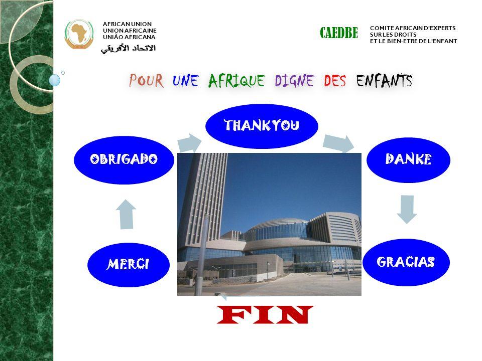 AFRICAN UNION UNION AFRICAINE UNIÃO AFRICANA COMITE AFRICAIN DEXPERTS SUR LES DROITS ET LE BIEN-ETRE DE LENFANT CAEDBE POUR UNE AFRIQUE DIGNE DES ENFA