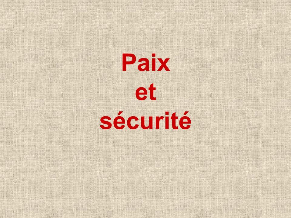 Paix et sécurité