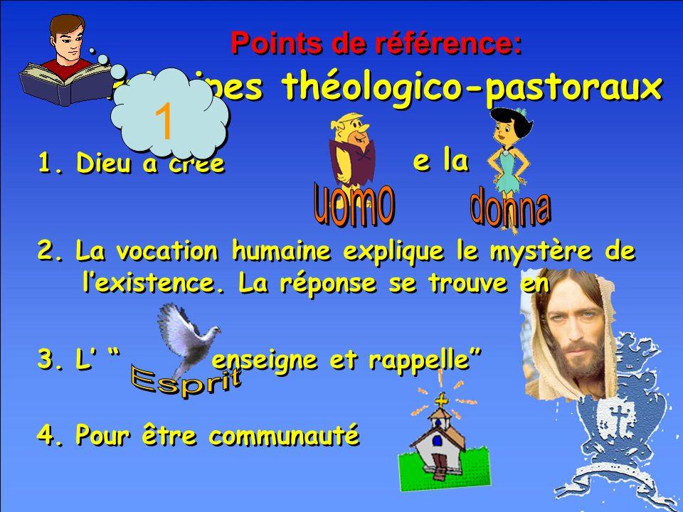 Points de référence: Principes théologico-pastoraux e la 1.